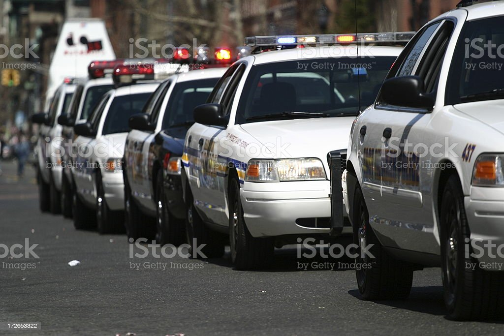 Police Cars stock photo