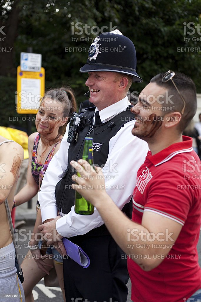 Police Constable at Notting Hill Carnival royalty-free stock photo