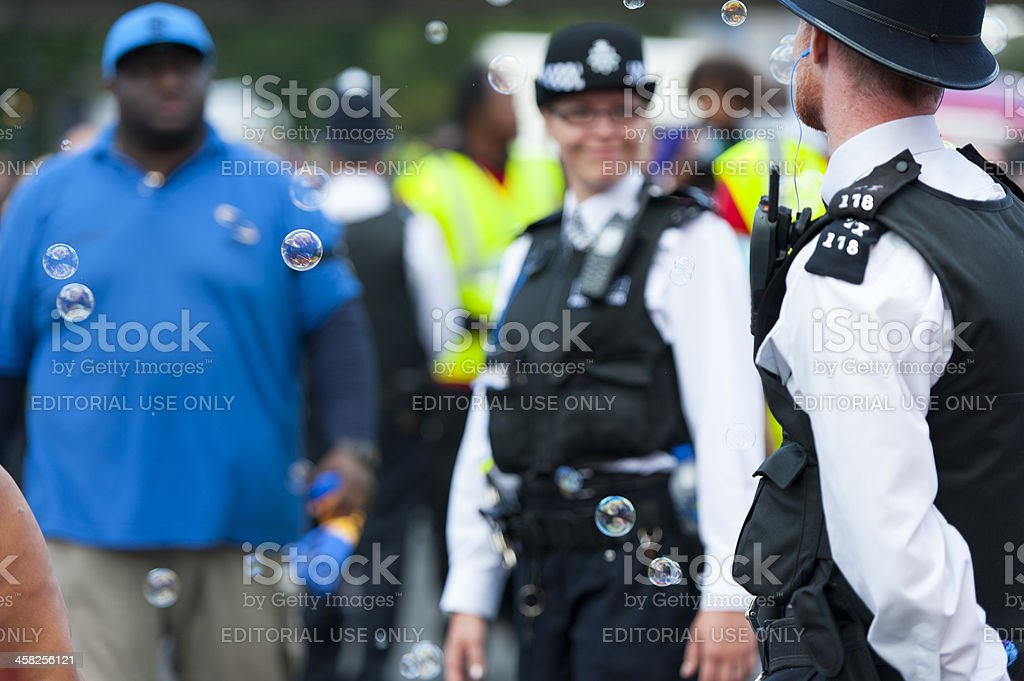 Police Constable at Notting Hill Carnival stock photo