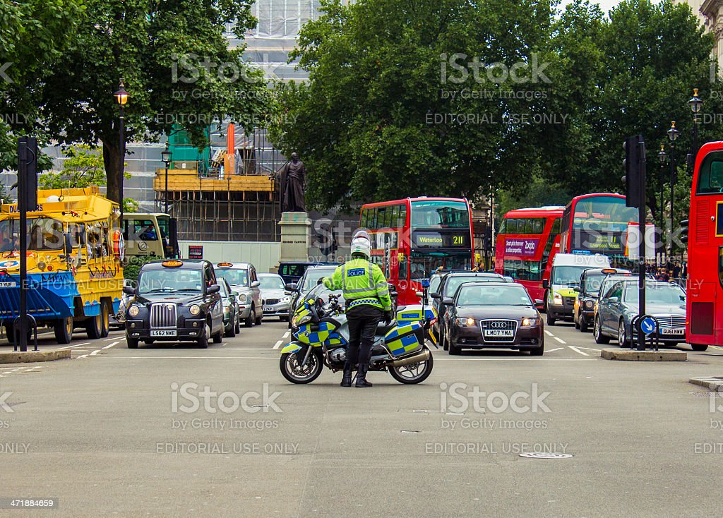 Police cordoning off a road in london royalty-free stock photo
