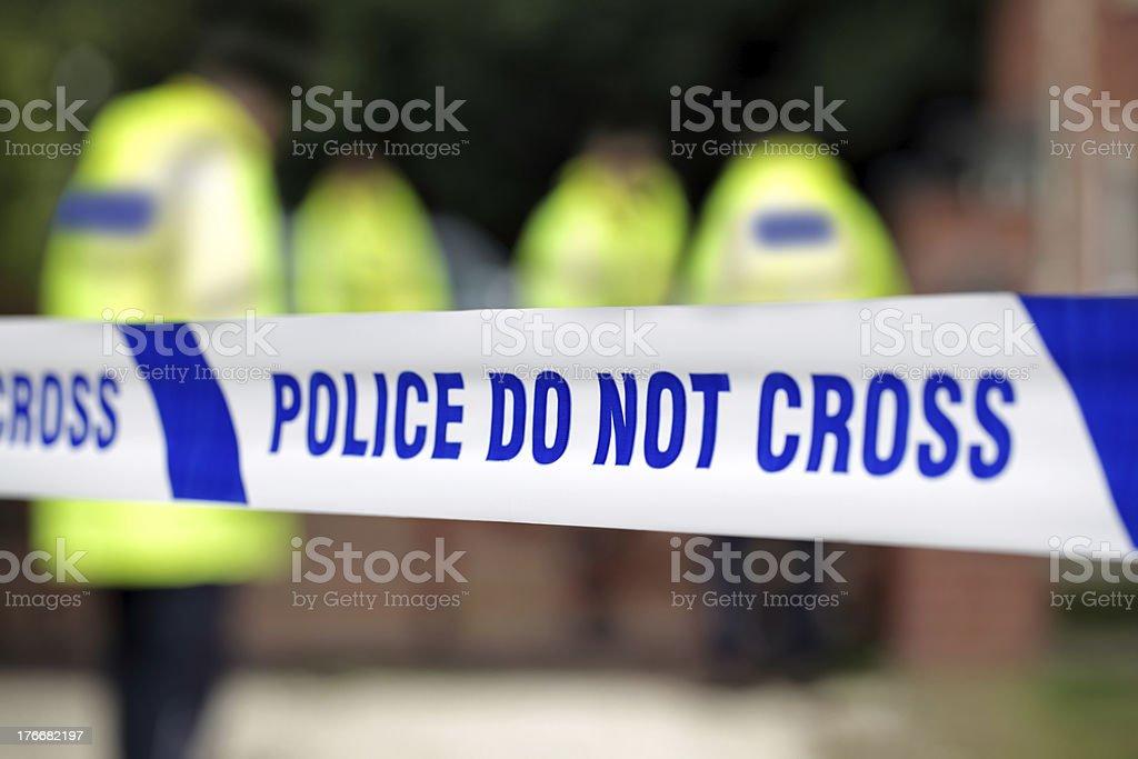 Police crime scene stock photo