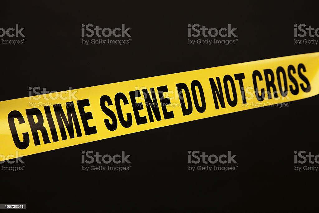 Police crime scene tape royalty-free stock photo