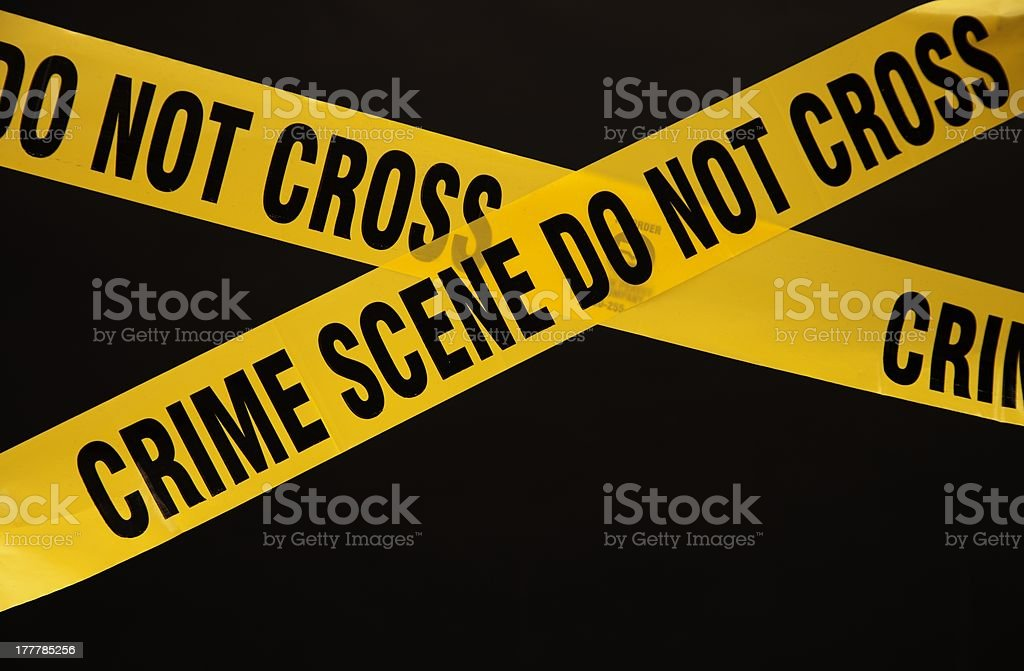 Police crime scene tape royalty-free stock photo