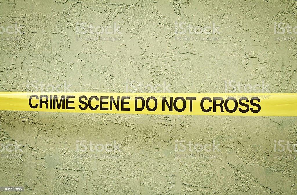 Police crime scene tape stock photo
