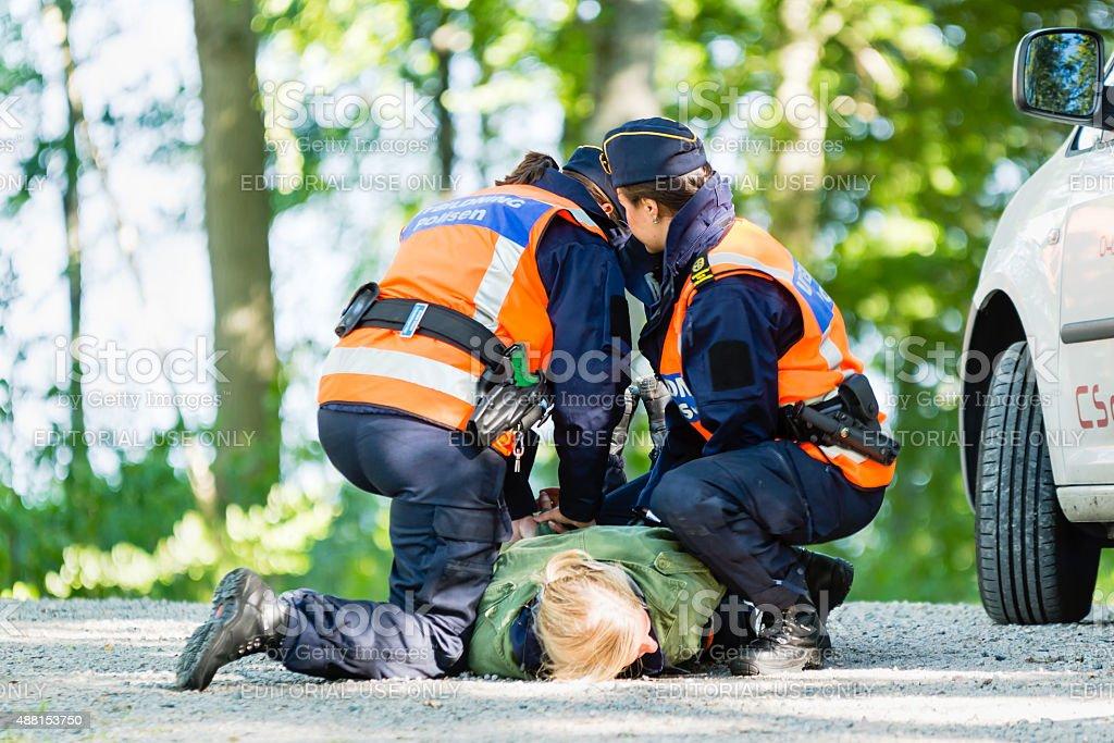 Police education stock photo