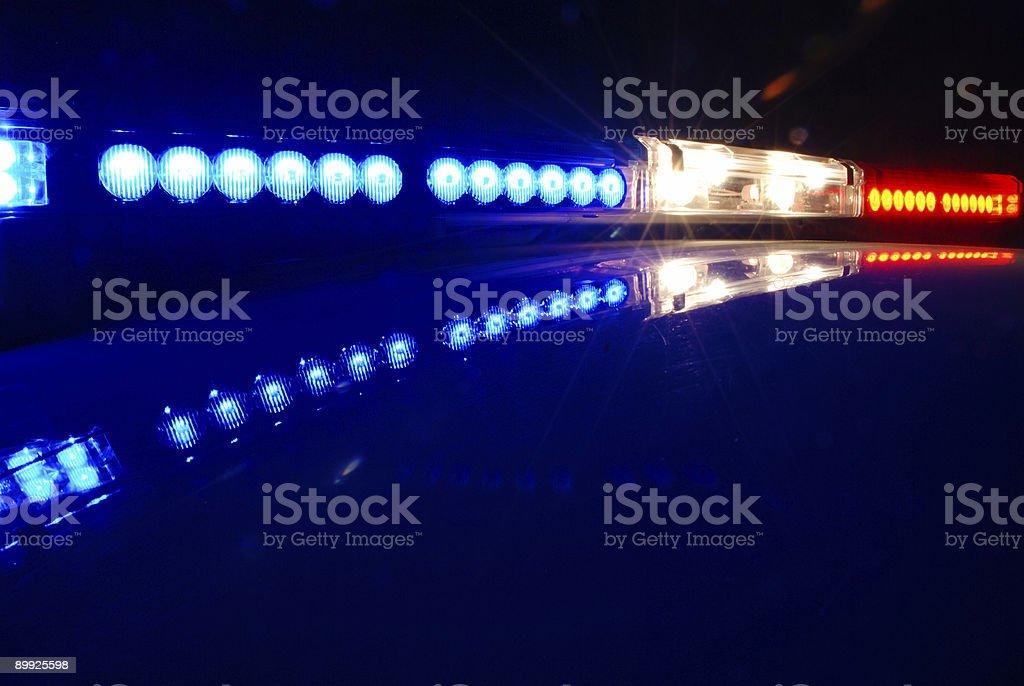 Police Emergency Lights stock photo
