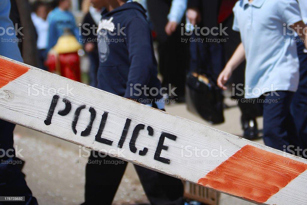 Police Evacuation royalty-free stock photo