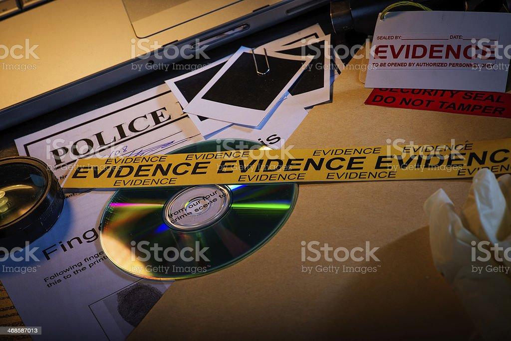 Police evidence stock photo