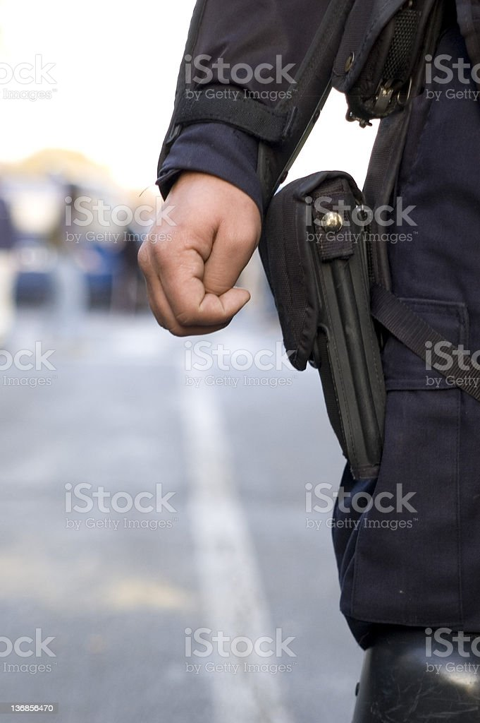 police gun royalty-free stock photo