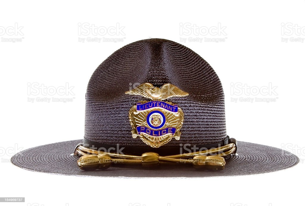 Police hat stock photo