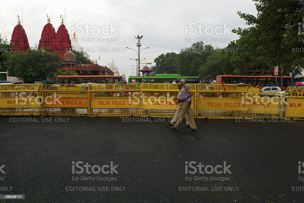 Police in New Delhi royalty-free stock photo