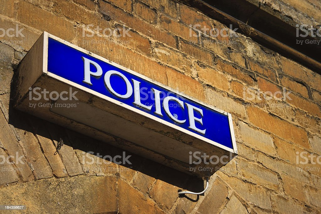 Police Information Sign, Cotswolds, England royalty-free stock photo