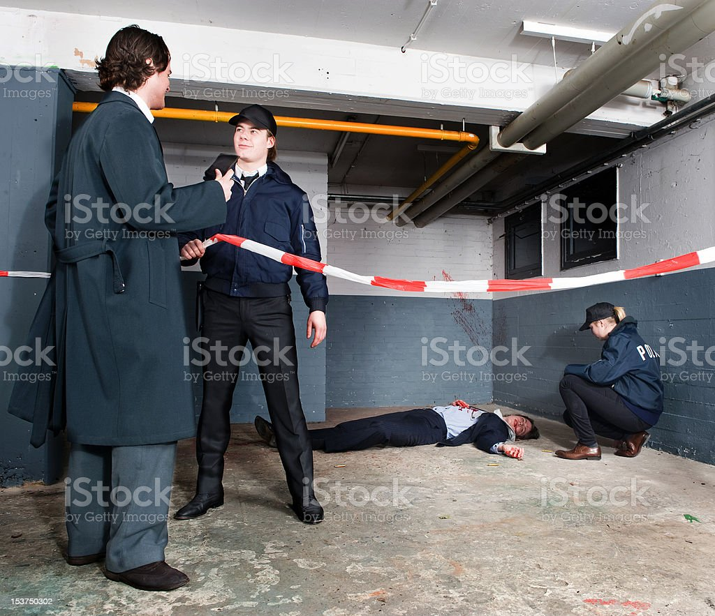 Police inspector arriving royalty-free stock photo