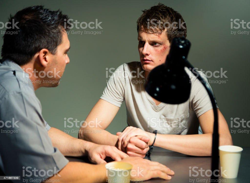 Police Interrogation stock photo