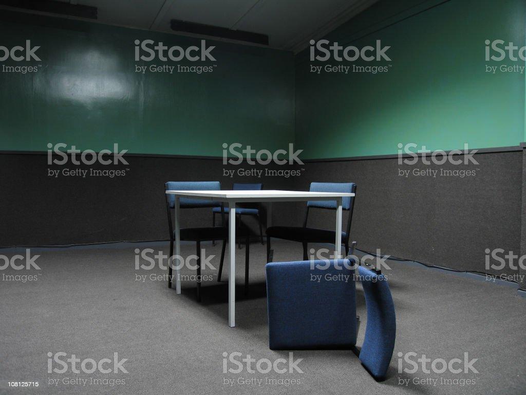 police interrogation room stock photo