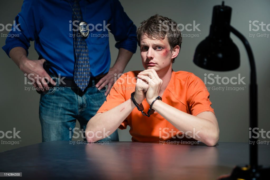 Police Interrogation Room royalty-free stock photo