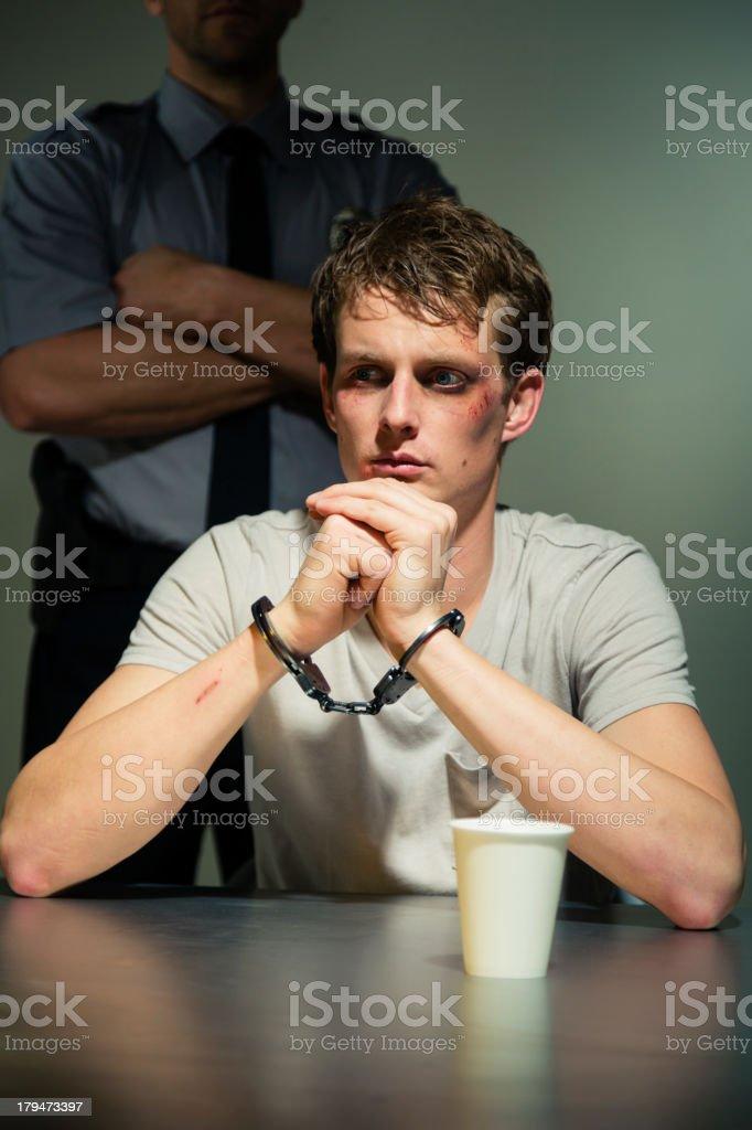 Police Interrogation Room royalty-free stock photo