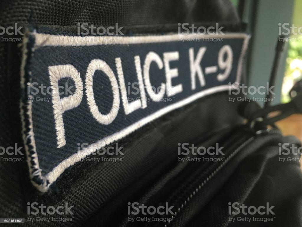 police k-9 badge stock photo
