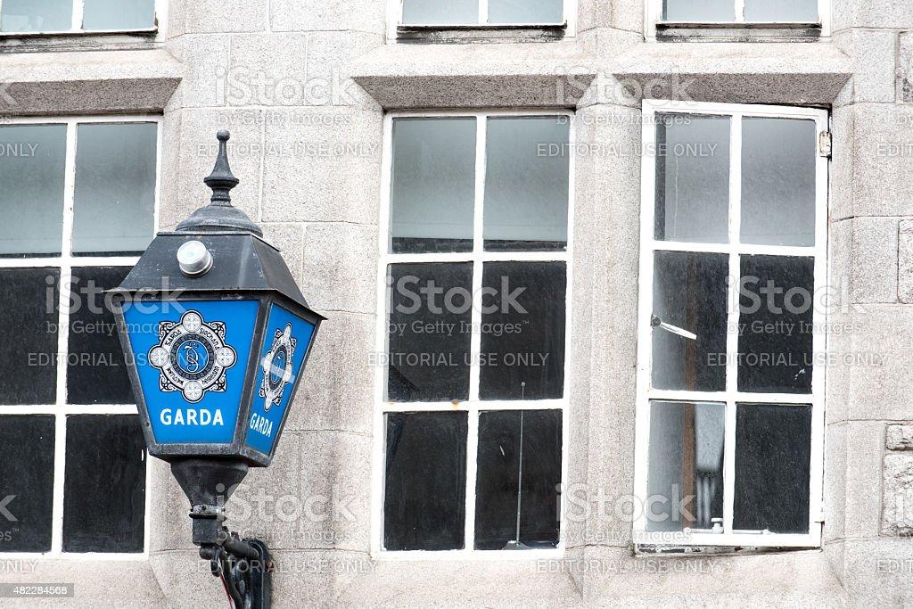 Police lamp, Dublin, Ireland stock photo