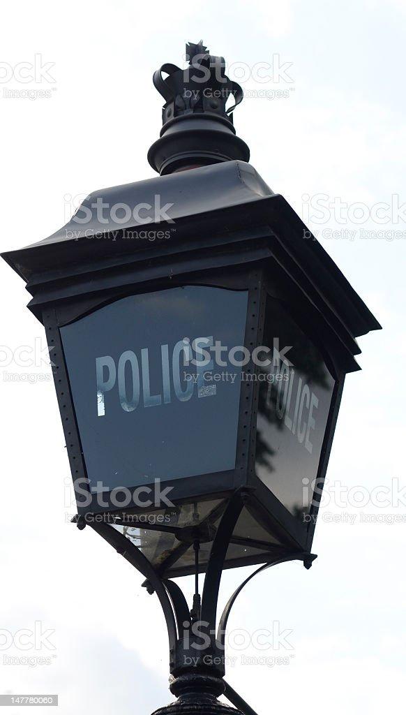 Police Lamp, Hyde Park stock photo