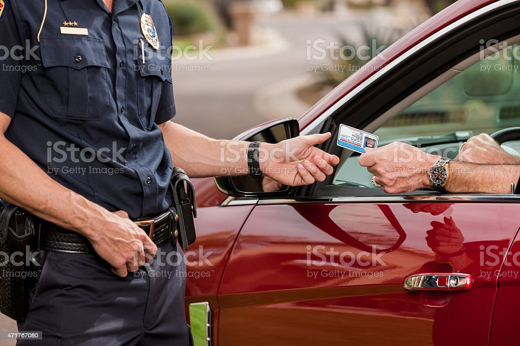 Police: License and Registration Please stock photo