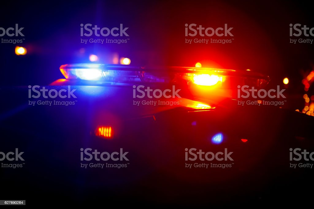 Police Lights and Sirens Law Enforcements stock photo
