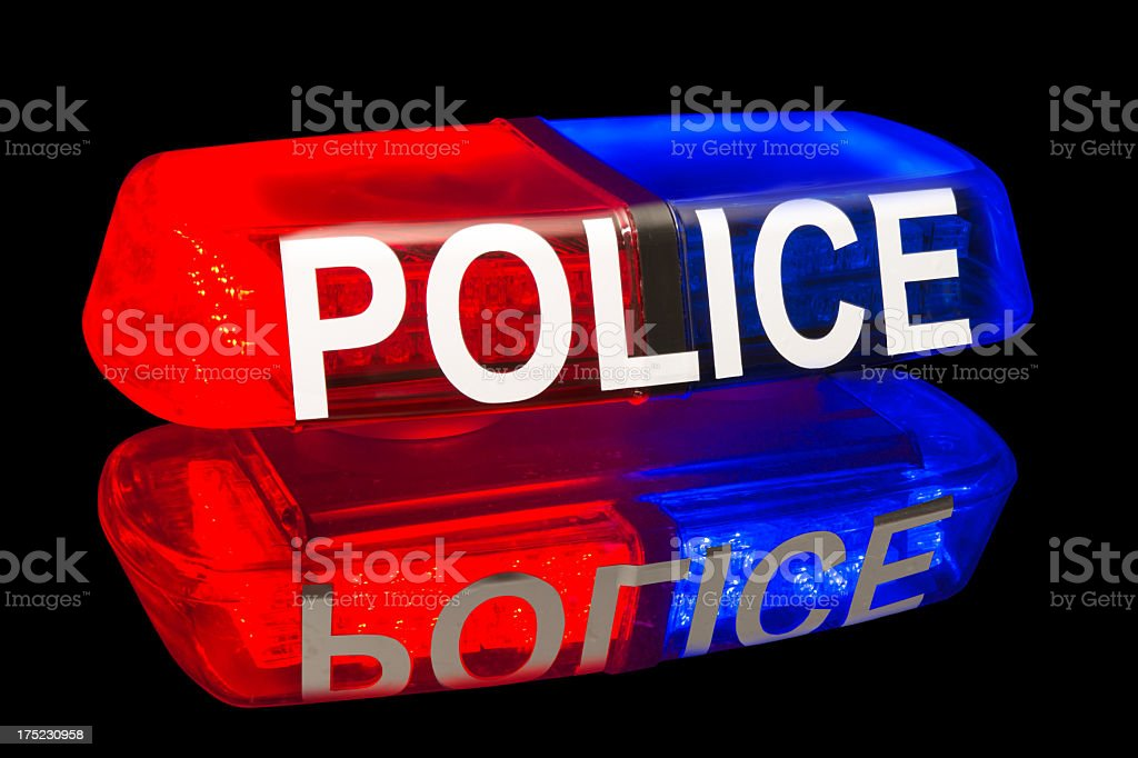police lights royalty-free stock photo