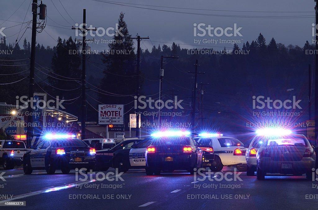 Police Lights stock photo