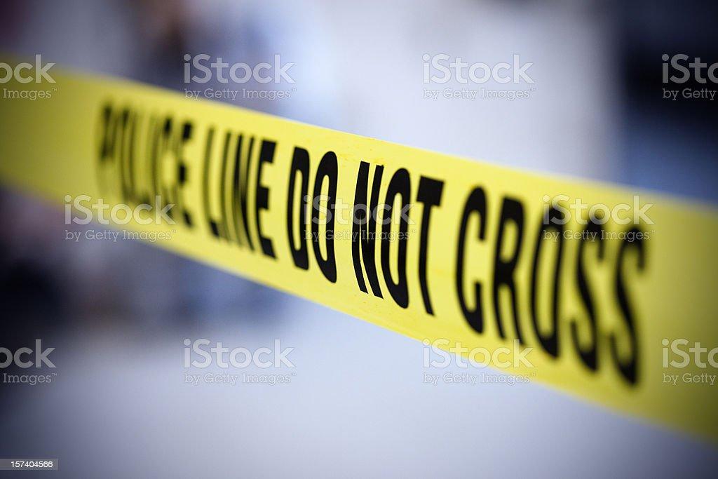 Police line belt stock photo
