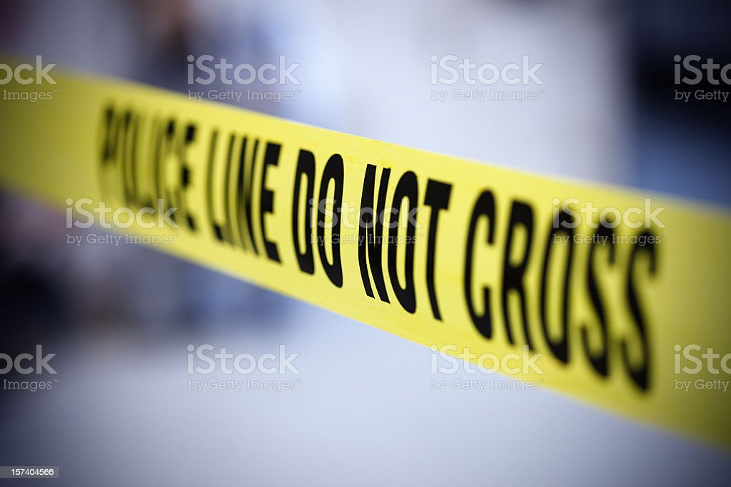 Police line belt stock photo