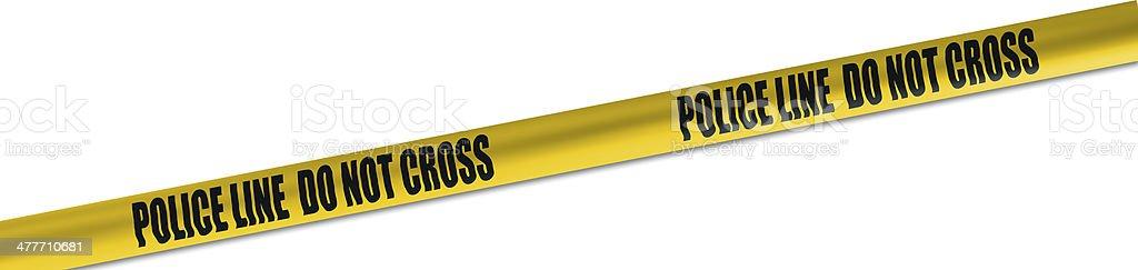 police line cordon tape stock photo