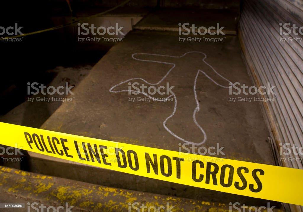 Police Line Crime Scene stock photo