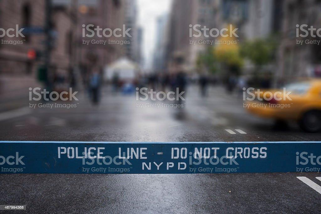 Police Line Do Not Cross. New York City. stock photo