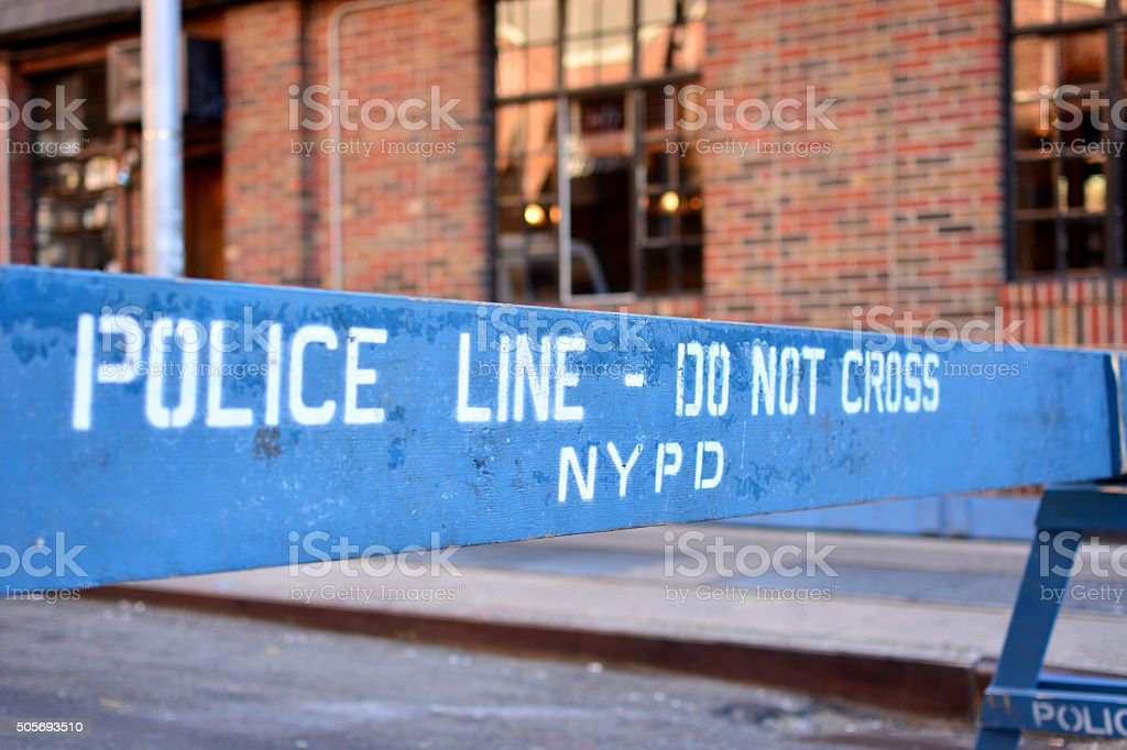 NYPD Police Line - Do Not Cross stock photo