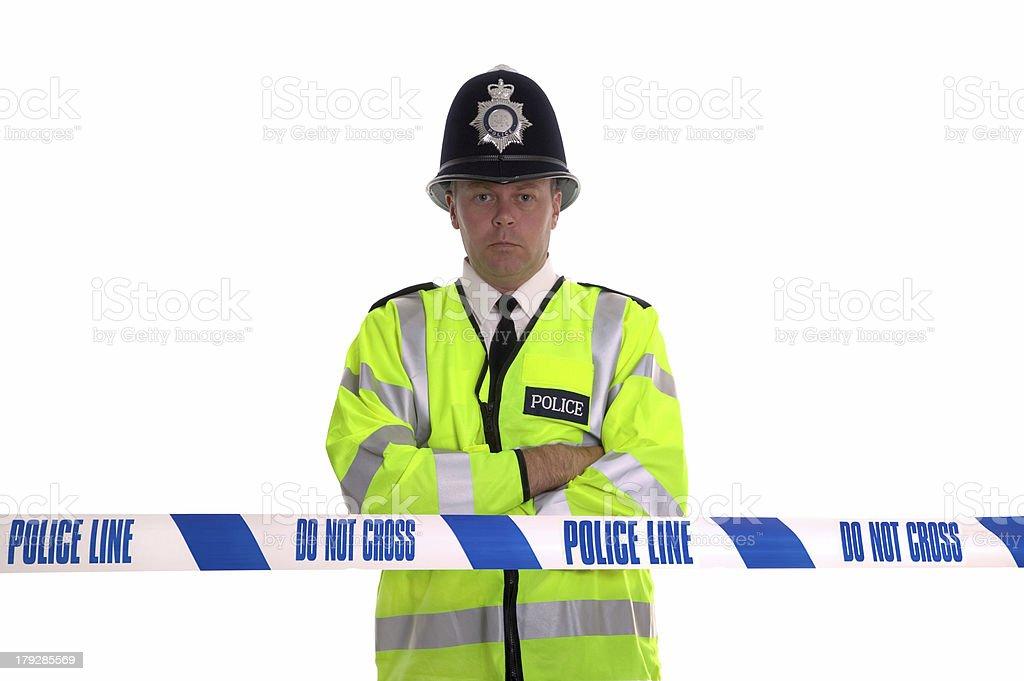 Police Line stock photo
