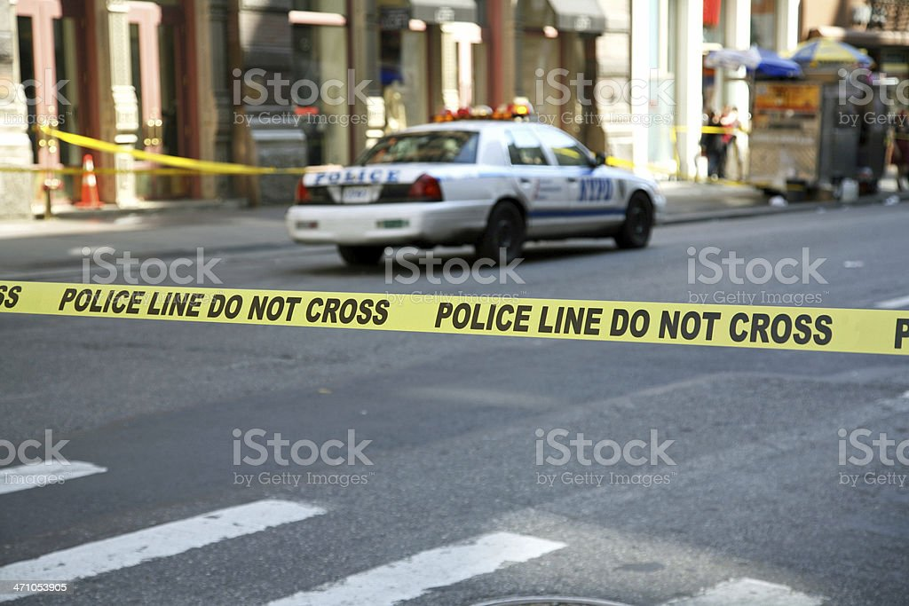 Police Line Tape royalty-free stock photo