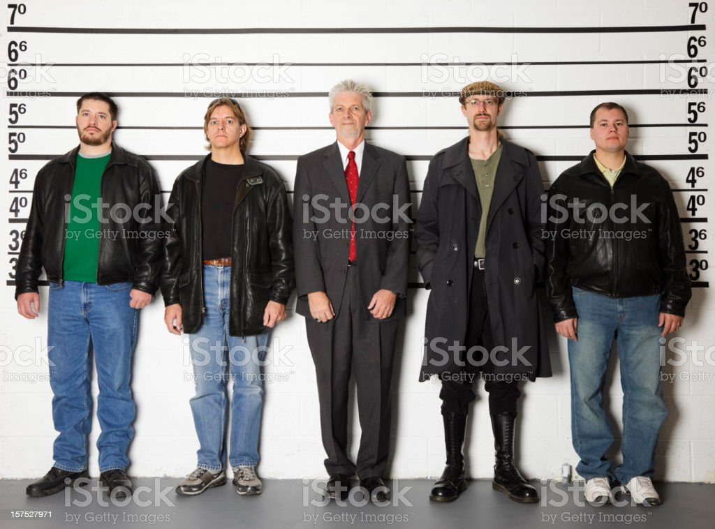 Police Line-Up stock photo