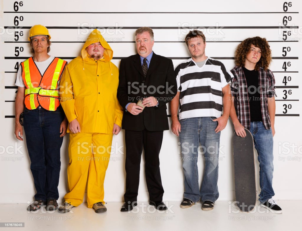 Police Lineup royalty-free stock photo