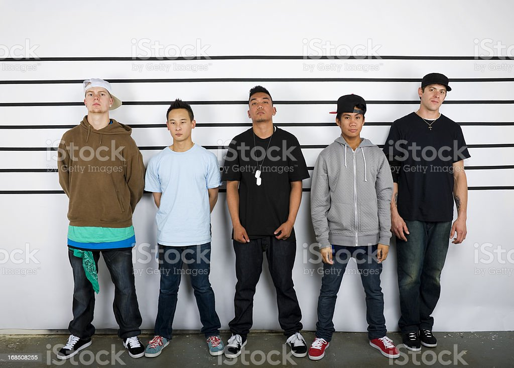 Police Lineup stock photo