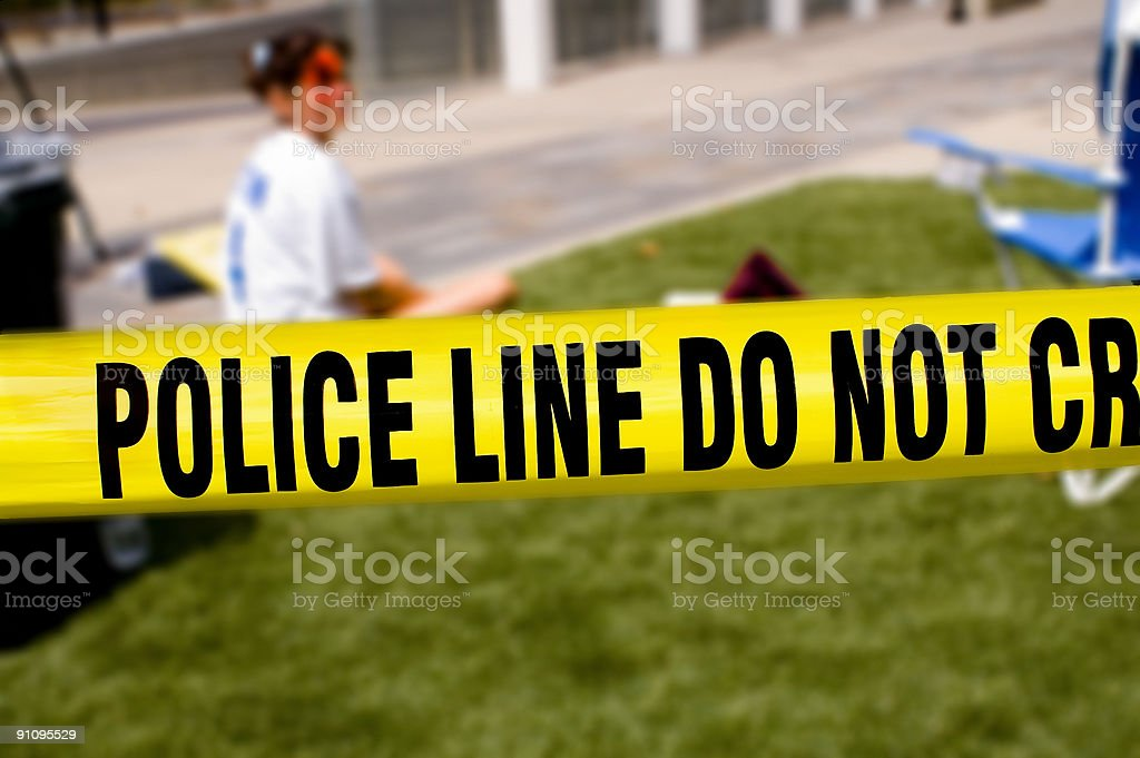 Police line-victim stock photo