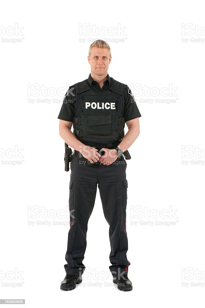 Police man stock photo