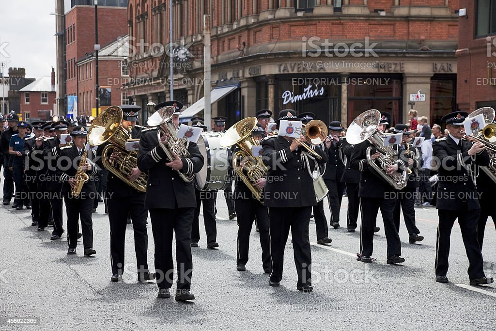 Police marching band royalty-free stock photo