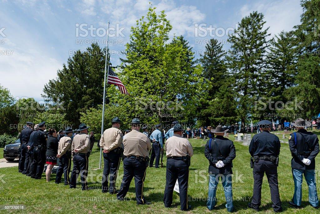 Police Memorial Service stock photo