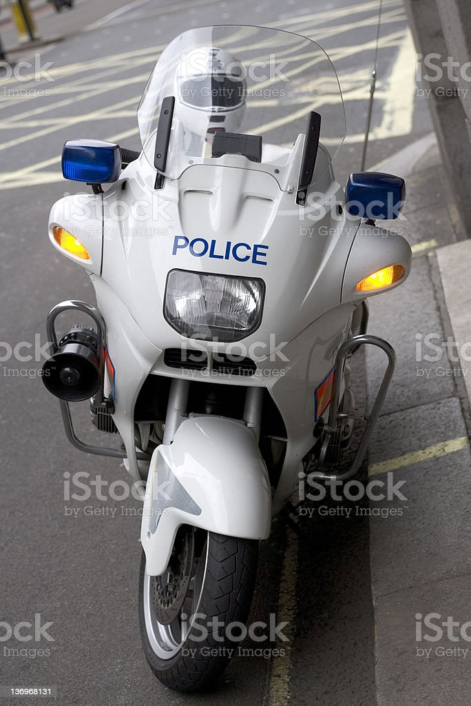 Police Motorcycle, London royalty-free stock photo