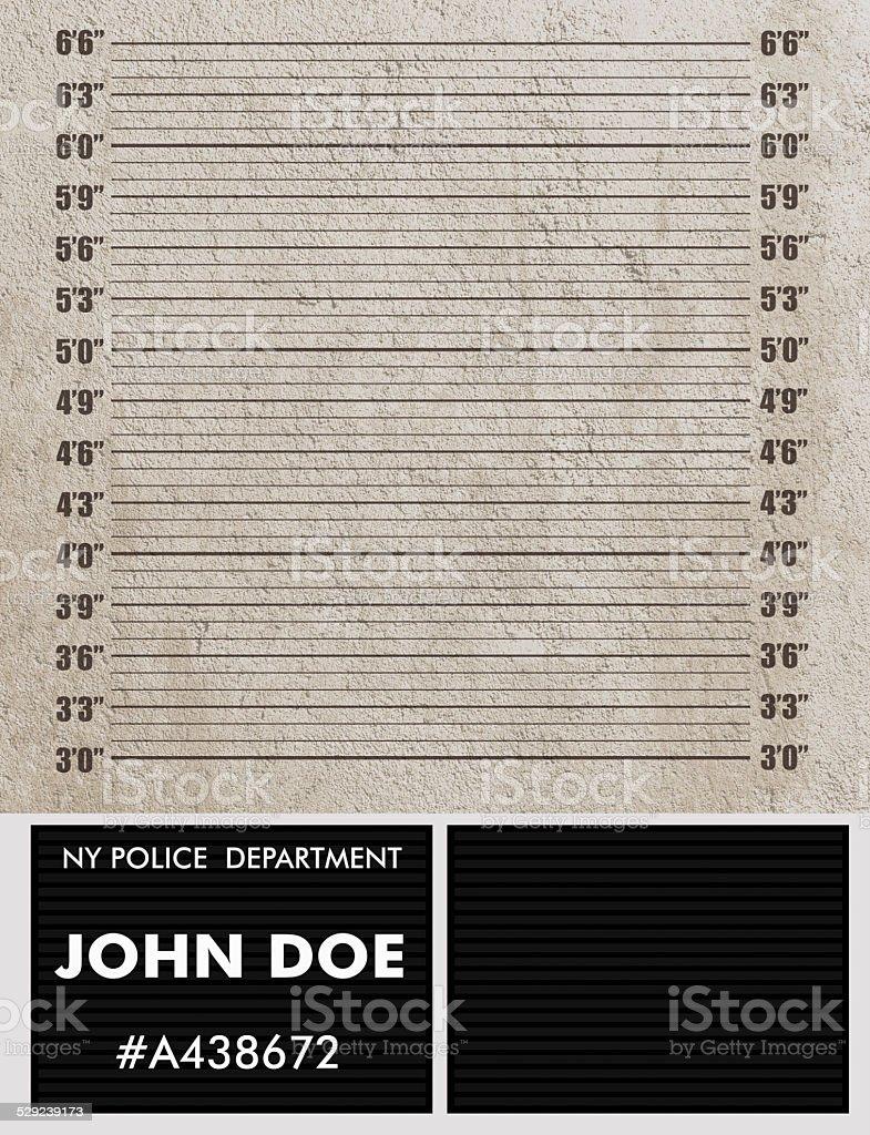 Police mugshot background stock photo