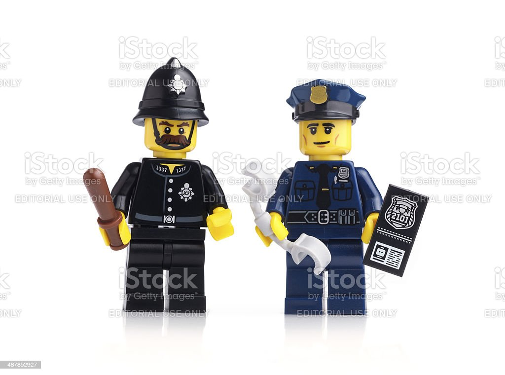 Police Officer and Constable royalty-free stock photo