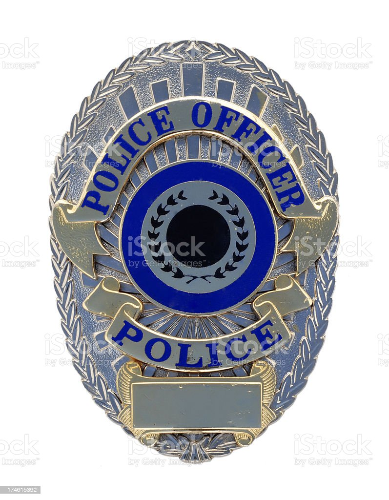 Police Officer Badge stock photo