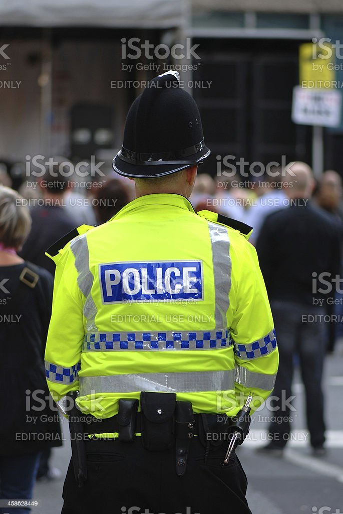 Police officer during Mathew Street Festival royalty-free stock photo