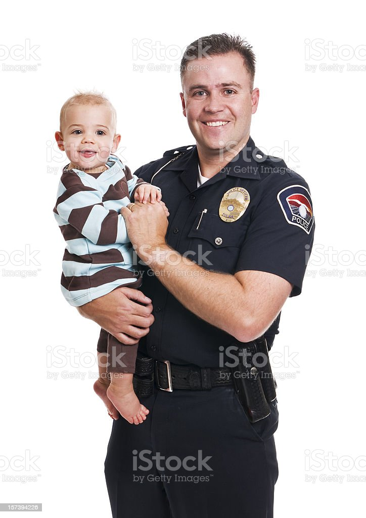 Police Officer Father royalty-free stock photo
