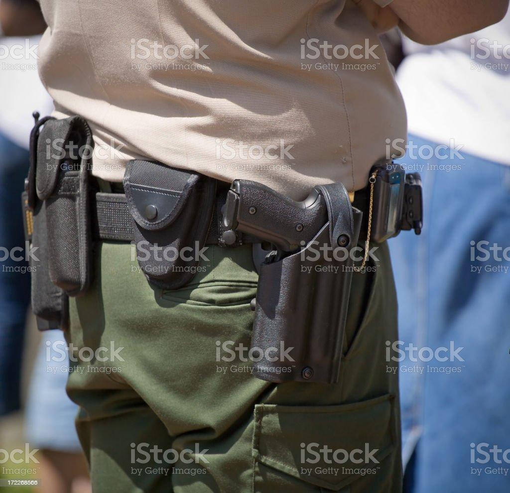Police Officer Gun Belt stock photo
